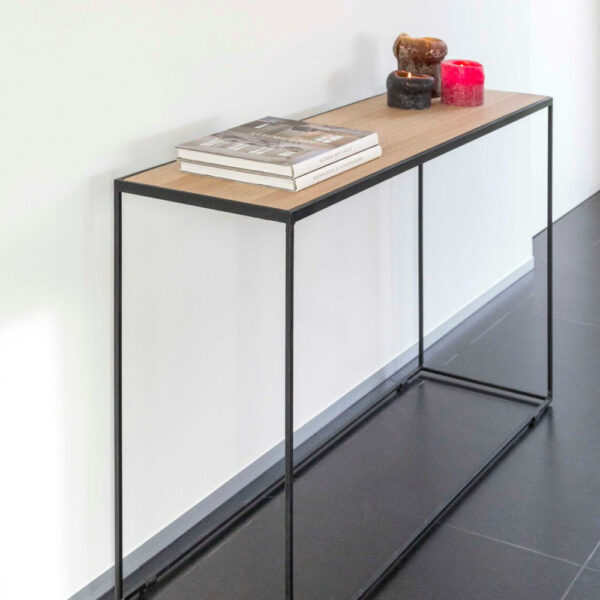 rubic wood metal console