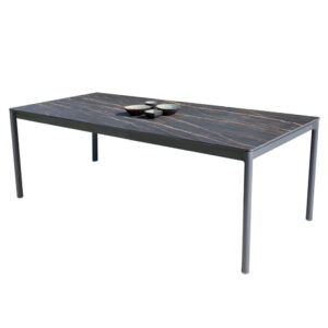 suri black ceramic outdoor dining table