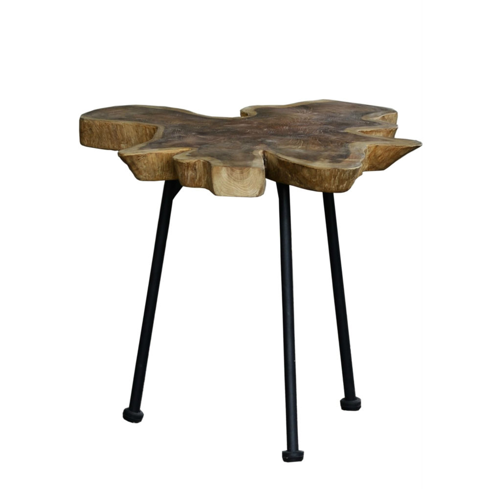 natural wood side table trunck rustic style home couture miami. Black Bedroom Furniture Sets. Home Design Ideas