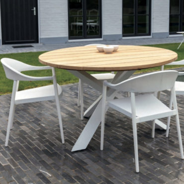 tusa round outdoor dining table