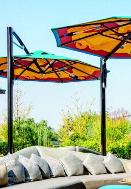 Tuuci umbrellas outdoor sofa